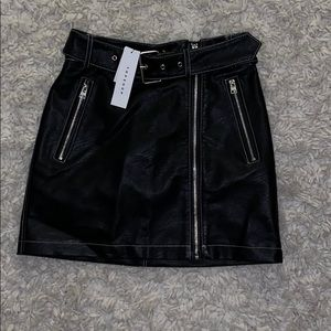 NWT Topshop leather mini skirt